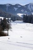 przecinający kraju narciarstwo Obraz Royalty Free