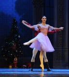 Przecinający poparcie lali książe i Clara taniec - Baletniczy dziadek do orzechów Obrazy Stock