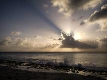 przecinający słońce Zdjęcia Stock