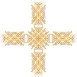 Przecinający Deseniowy ornament Fotografia Royalty Free