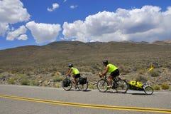 przecinający kraju cyklista Obraz Stock