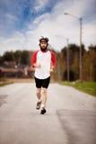 przecinający kraju jog zdjęcie stock