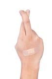 przecinający palec Zdjęcia Royalty Free