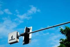Przecinający spacer etykietki znak Fotografia Stock