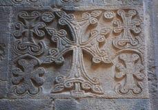 Przecinający kamień na ścianie monaster Fotografia Stock