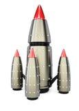 przeciw błękit dna zakończenia cztery nozzle rakietowej nieba przestrzeni Zdjęcie Royalty Free