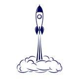 przeciw błękit dna zakończenia cztery nozzle rakietowej nieba przestrzeni Obrazy Stock