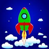 przeciw błękit dna zakończenia cztery nozzle rakietowej nieba przestrzeni Obraz Royalty Free