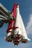 przeciw błękit dna zakończenia cztery nozzle rakietowej nieba przestrzeni Zdjęcia Stock