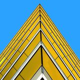 przeciw błękitny jaskrawy budynku kąta s ostrzu Fotografia Royalty Free