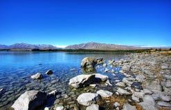 przeciw błękitny jeziornemu niebu Zdjęcie Royalty Free