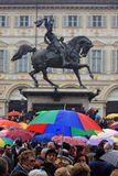 przeciw berlusconi demonstraci Silvio Fotografia Stock