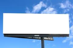 przeciw billboardu niebieskiemu niebu Zdjęcie Stock