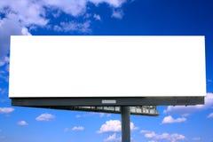 przeciw billboardu niebieskiemu niebu Zdjęcia Royalty Free