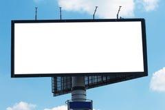 przeciw billboardu niebu błękitny chmurnemu Fotografia Royalty Free