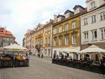 przeciw bożych narodzeń targowemu syrenki kwadrata symbolu drzewu Warsaw Obrazy Royalty Free