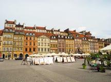 przeciw bożych narodzeń targowemu syrenki kwadrata symbolu drzewu Warsaw Fotografia Royalty Free