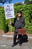 przeciw Christchurch rada miasta protestującemu Obraz Royalty Free