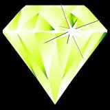 przeciw czarny diamentu zieleni ilustracja wektor