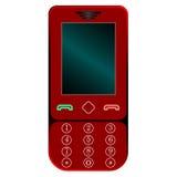 przeciw czerwonemu telefon komórkowy biel ilustracja wektor