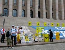 przeciw demonstracj elektrowniom jądrowym Zdjęcia Royalty Free