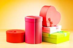 przeciw giftboxes gradientowym zdjęcie royalty free