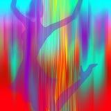 przeciw kolorom target354_1_ dziewczyny neon Zdjęcie Royalty Free