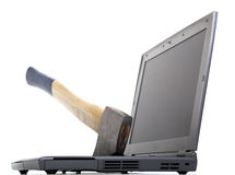 przeciw komputer furii Zdjęcia Stock