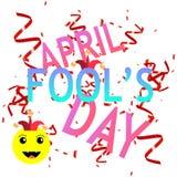 przeciw Kwiecień ptasim błękitny bąbla motylom kalendarzowy dzień błaź się mowy kapeluszowego słońce royalty ilustracja