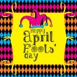 przeciw Kwiecień ptasim błękitny bąbla motylom kalendarzowy dzień błaź się mowy kapeluszowego słońce ilustracja wektor