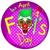 przeciw Kwiecień ptasim błękitny bąbla motylom kalendarzowy dzień błaź się mowy kapeluszowego słońce Obraz Royalty Free