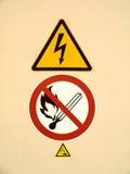 przeciw logowi palenie zabronione Zdjęcia Stock