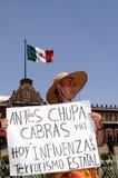 przeciw meksykanina rządowemu protestowi Zdjęcia Stock