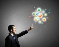 przeciw pojęcie błękitny barwionej sieci networking piszczy niebo Zdjęcie Stock