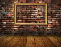 przeciw ramowego grunge wewnętrznej ścianie Zdjęcie Stock