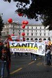 przeciw rzędowi protestuje Rome Fotografia Royalty Free