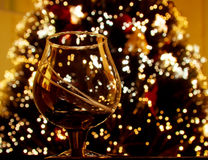 przeciw szklanemu nowemu drzewnemu rok Zdjęcie Royalty Free