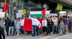 przeciw szturmowej demonstraci Israel s Fotografia Royalty Free