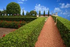 przeciw tła błękitny zieleni ładnemu parkowemu niebu Fotografia Royalty Free