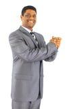 przeciw tła biznesowego mężczyzna biel Zdjęcie Stock