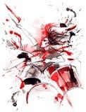przeciw tła czerń ognistej gitary muzyki skale ilustracji