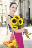 przeciw torbom target1461_1_ zakupy kobiety Zdjęcie Stock