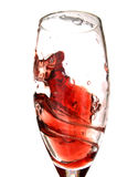 przeciw - wirowe czerwone wino Fotografia Stock
