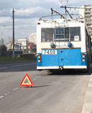 Przeciwawaryjna tramwaj przerwa Obraz Royalty Free