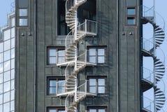 Przeciwawaryjni pożarniczej ucieczki schody na budynek powierzchowności Obraz Stock