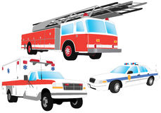 przeciwawaryjni pojazdy Ilustracji