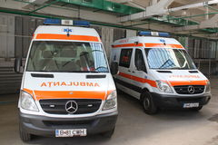 Przeciwawaryjny ambulansowy samochód Obrazy Stock