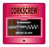 Przeciwawaryjny Corkscrew Zdjęcie Stock