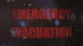 Przeciwawaryjny Ewakuacyjny Raźny sygnał na Starym Brudzi ekran zbiory wideo