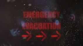 Przeciwawaryjny Ewakuacyjny Raźny sygnał na Starym Brudzi ekran zdjęcie wideo